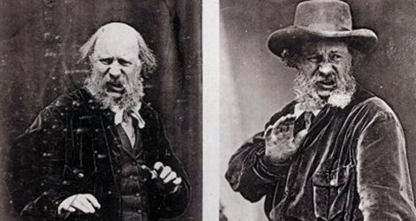 Photographs from Charles Darwin's The Expression of the Emotions in Man and Animals