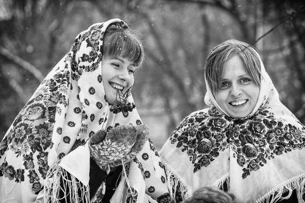 Beautiful and happy Russian women. thumbnail