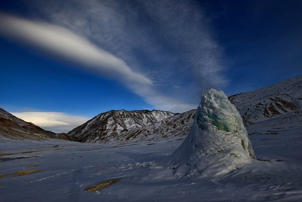 Frozen thermal vent in Ladakh thumbnail
