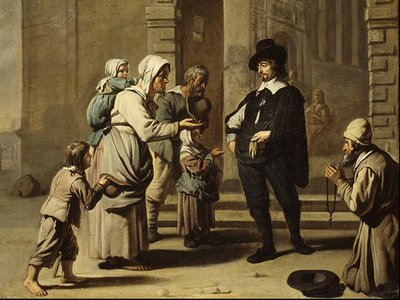 Begging has a long, complicated history in England and the U.S. and professional beggars were often seen as people not deserving of aid.