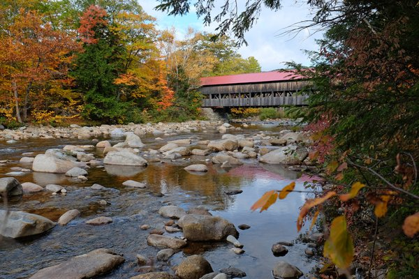 Albany covered bridge over the Swift River in New Hampshire thumbnail