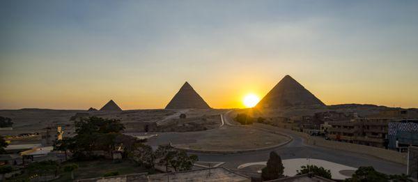 Giza Pyramids at Sunset thumbnail