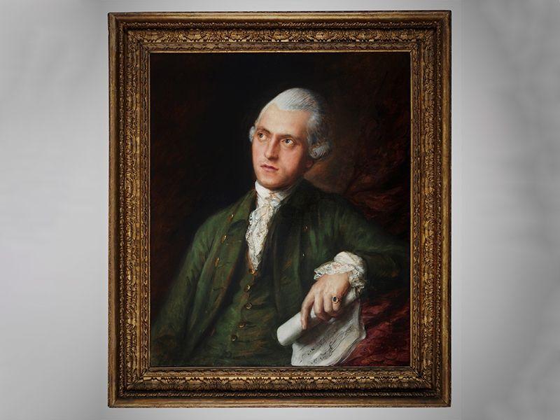 A previously unknown Thomas Gainsborough portrait of composer Antonín Kammel