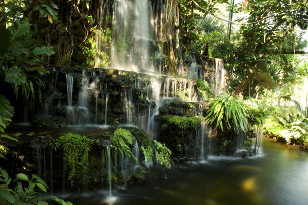 A very beautiful waterfall in the rainforest thumbnail