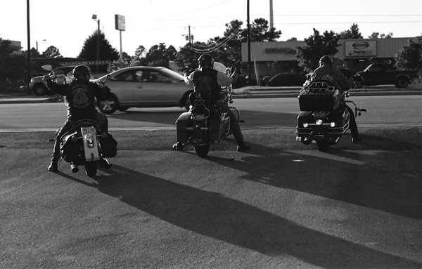 Late afternoon riders. thumbnail