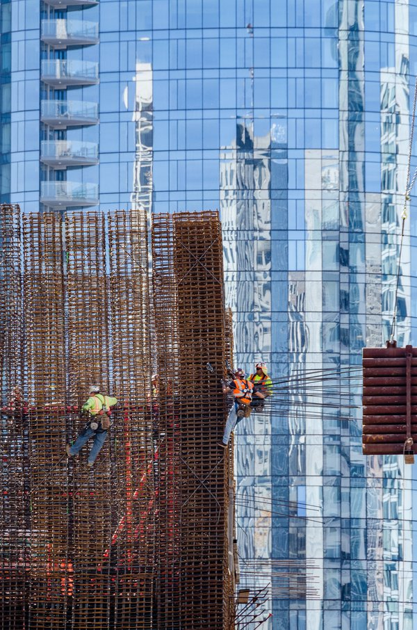Construction Work in Front of Reflection thumbnail