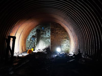 The underground bunker is about 23 feet long and 10 feet wide.