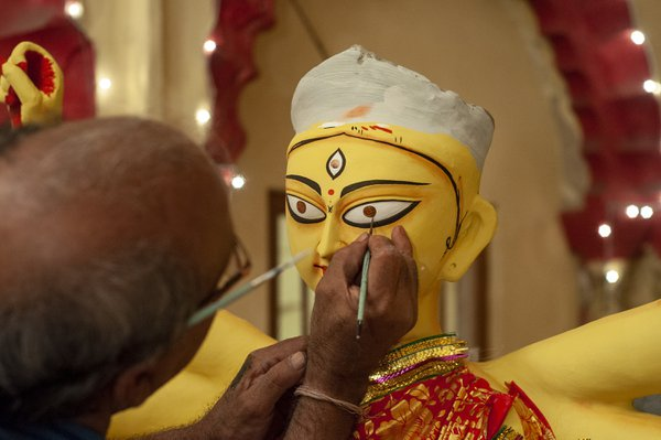 Eye making of Goddess Durga thumbnail