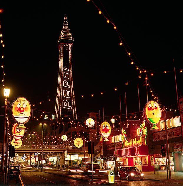 Blackpool England promenade