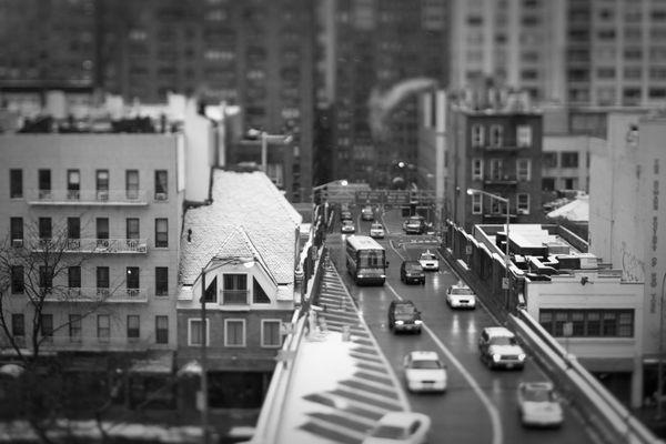 Queensboro Bridge ramp on the East Side of New York City. Taken with a tilt shift lens. thumbnail