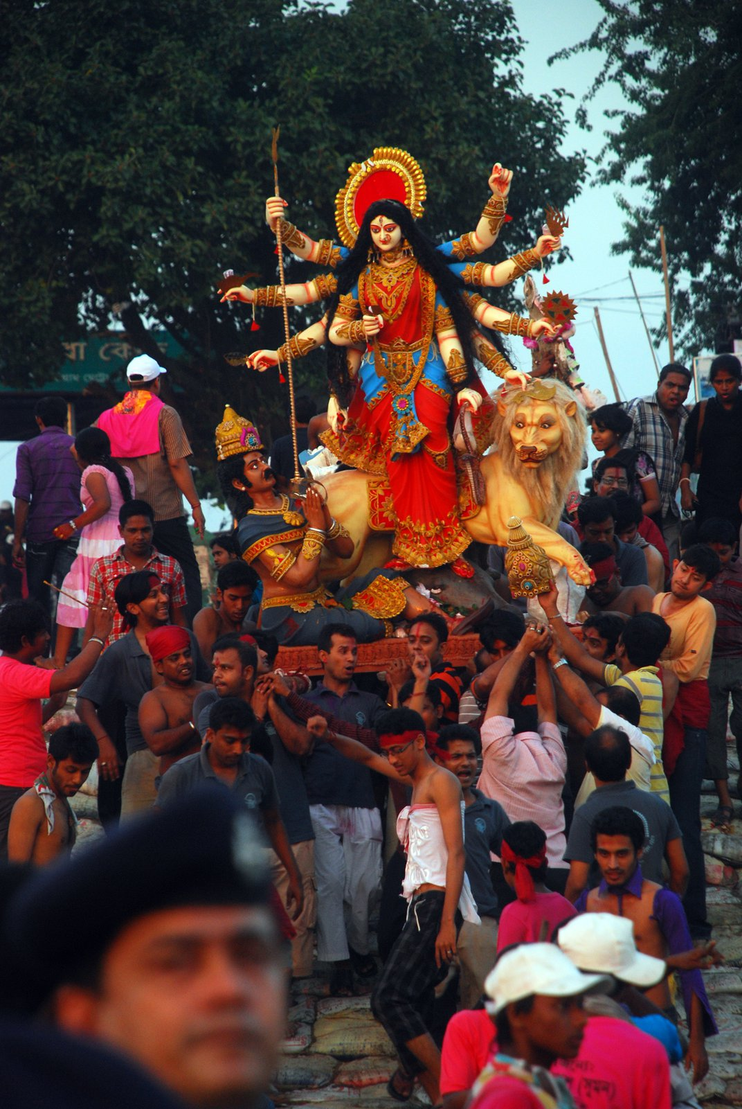End Of Durga Festival Of Hindu Religion People They Are