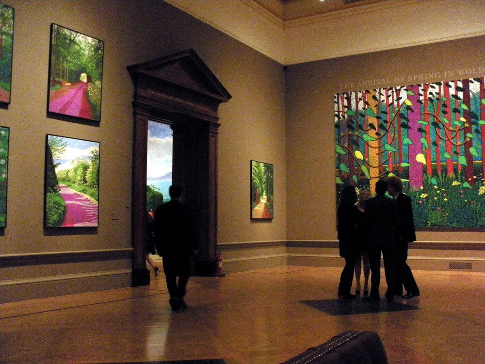 David Hockney exhibition at the Royal Academy of Arts in London