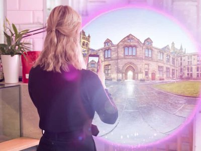The app opens a 'portal' that allows users to step into a series of immersive AR experiences