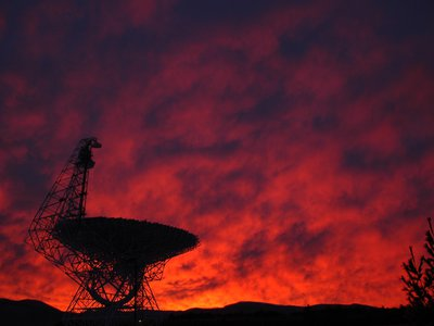 """The Green Bank Telescope pictured—and other radio telescopes like it—are listening for """"technosignatures,"""" or possible transmissions from intelligent life forms"""