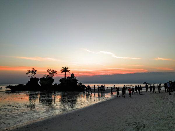 Summer sunset of Boracay Island. thumbnail
