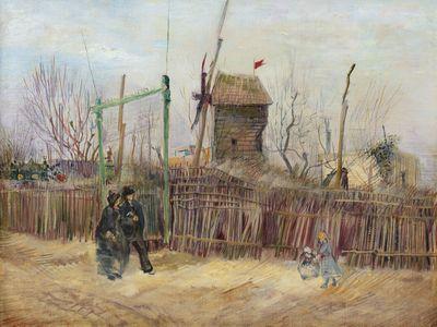 Vincent van Gogh, Scène de rue à Montmartre (Impasse des Deux Frères et le Moulin à Poivre), 1887