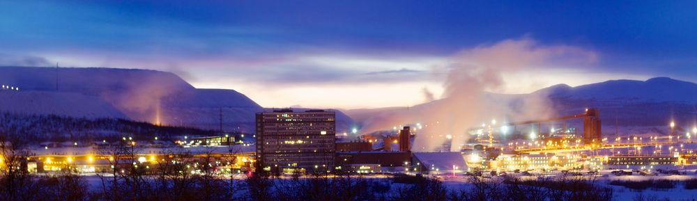 Kiruna's Iron Mine at Night
