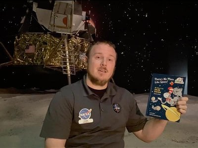 The Kennedy Space Center will have daily Facebook Live presentations for young children at 9:30 a.m. and for teens at 1 p.m.