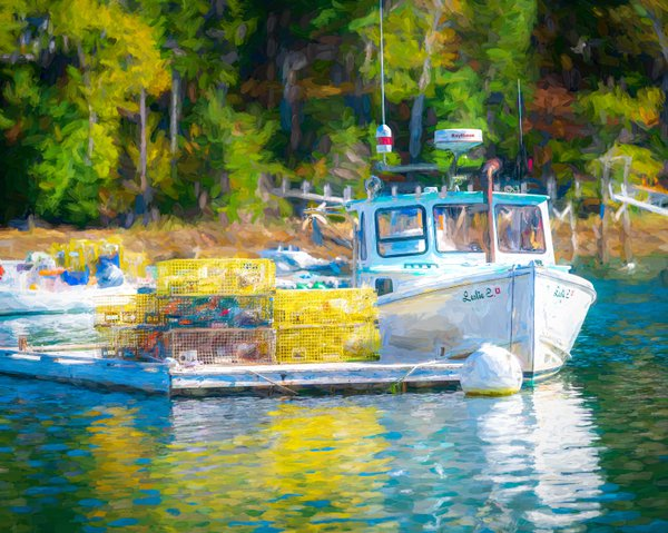 The Lobster Boat South Bristol Maine thumbnail