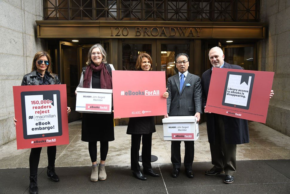 Librarians Protest E-Book Restrictions