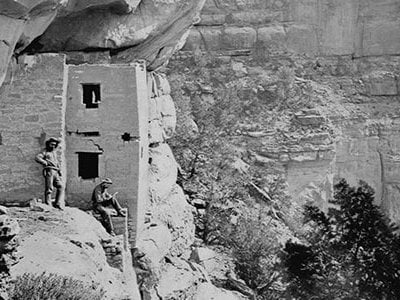 In 1874, an earlier traveler, photographer William Henry Jackson, captured an image of an Anasazi cliff dwelling.