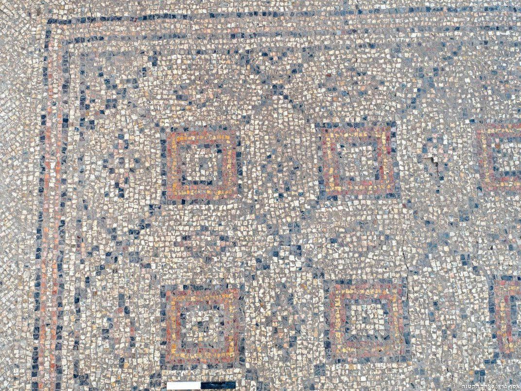 Colorful, 1,600-Year-Old Mosaic Adorned With Geometric Patterns Found in Israel