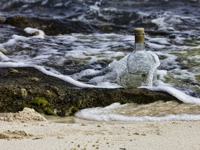 This is not the 101 year old message in a bottle.