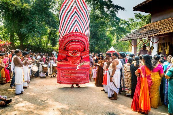 Puthiya Bhagavathi Theyyam Festival  the ancient Dravidian culture of  India thumbnail