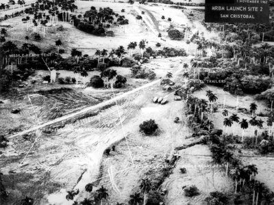 President Kennedy declassified images like this one that showed medium-range ballistic missile launch sites in the Cuban countryside