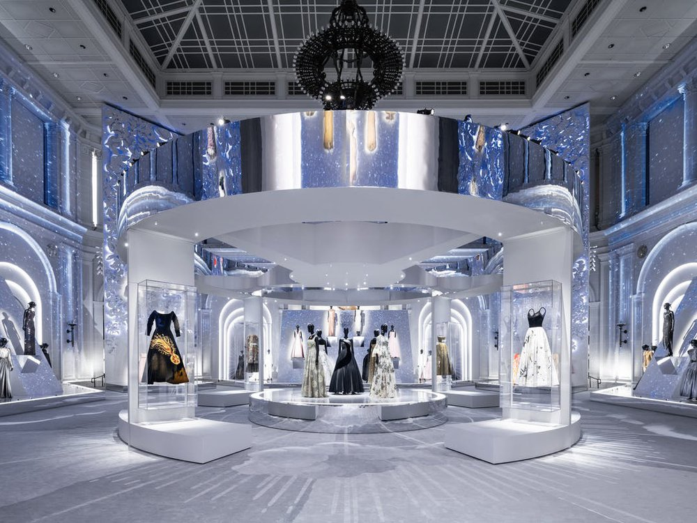 Installation view of the Dior exhibition