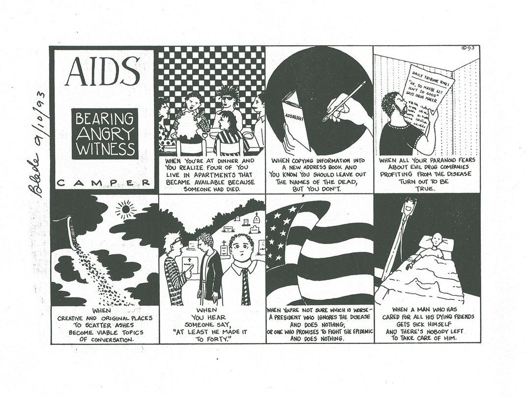 Black and white comic strip