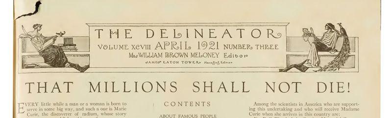 "Newspaper headline reading ""That millions shall not die!"""