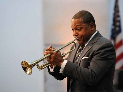 """Louis Armstrong's historic trumpet was a """"great playing"""" instrument, says Wynton Marsalis, after his performance last Fall at the Smithsonian."""