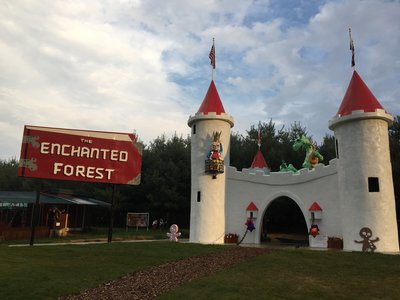 The Castle and the Enchanted Forest Sign as they look today on Clark's Elioak Farm.