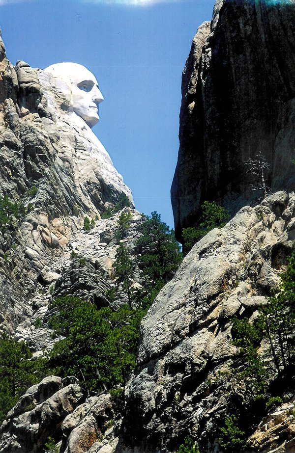 Washington's Profile at Mount Rushmore thumbnail