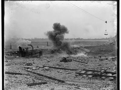Eight hundred pounds of dynamite exploding.