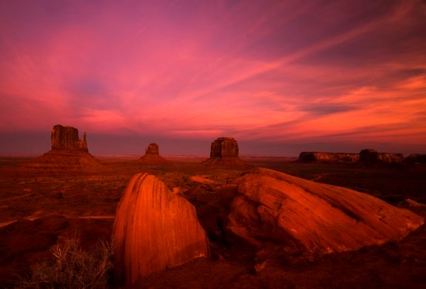 After Sunset, Monument Valley, Arizona thumbnail