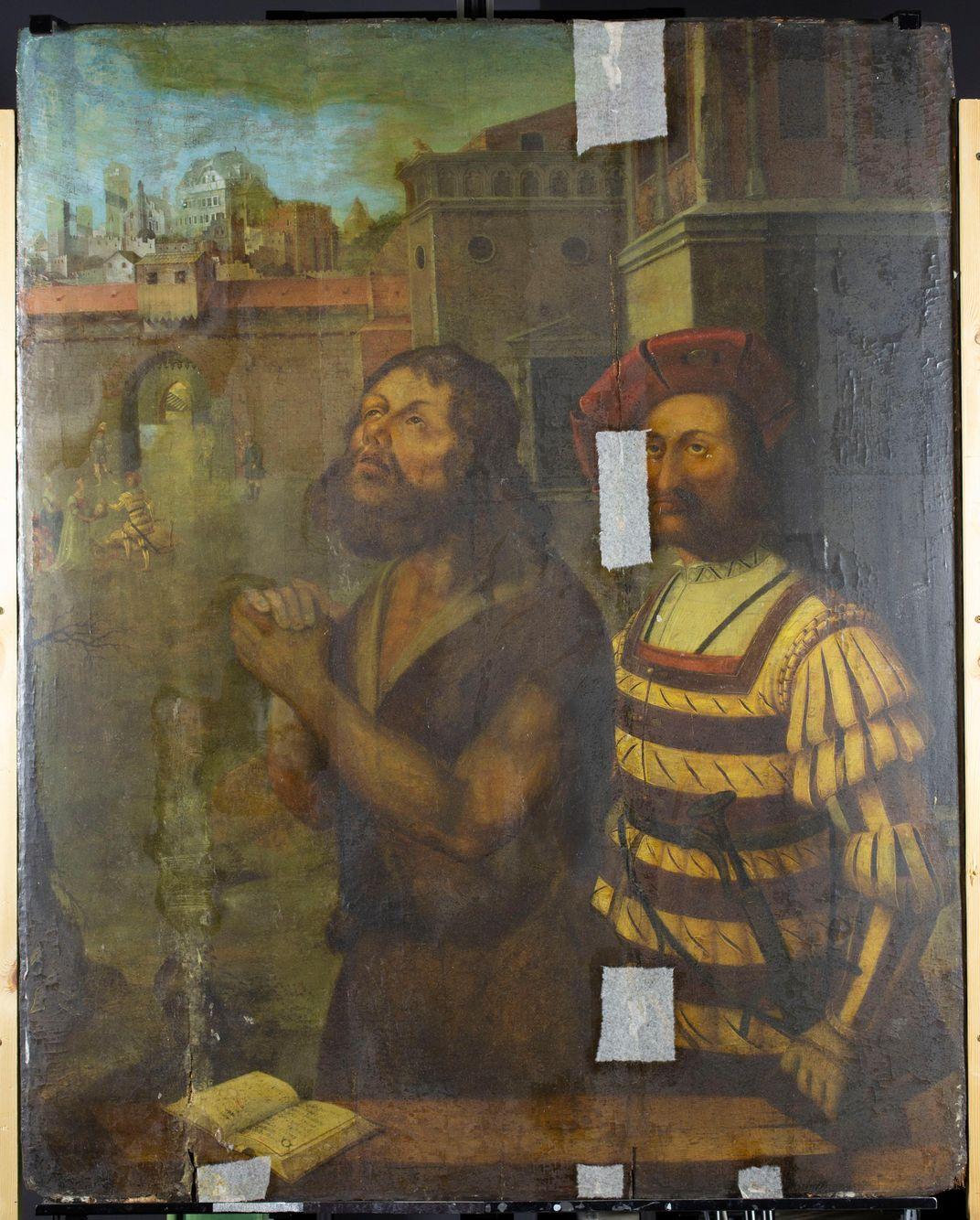 Nativity Scene Discovered Beneath 16th-Century Painting of John the Baptist's Beheading