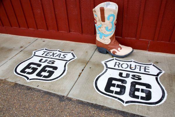 Alnog historic Route 66, Texas thumbnail
