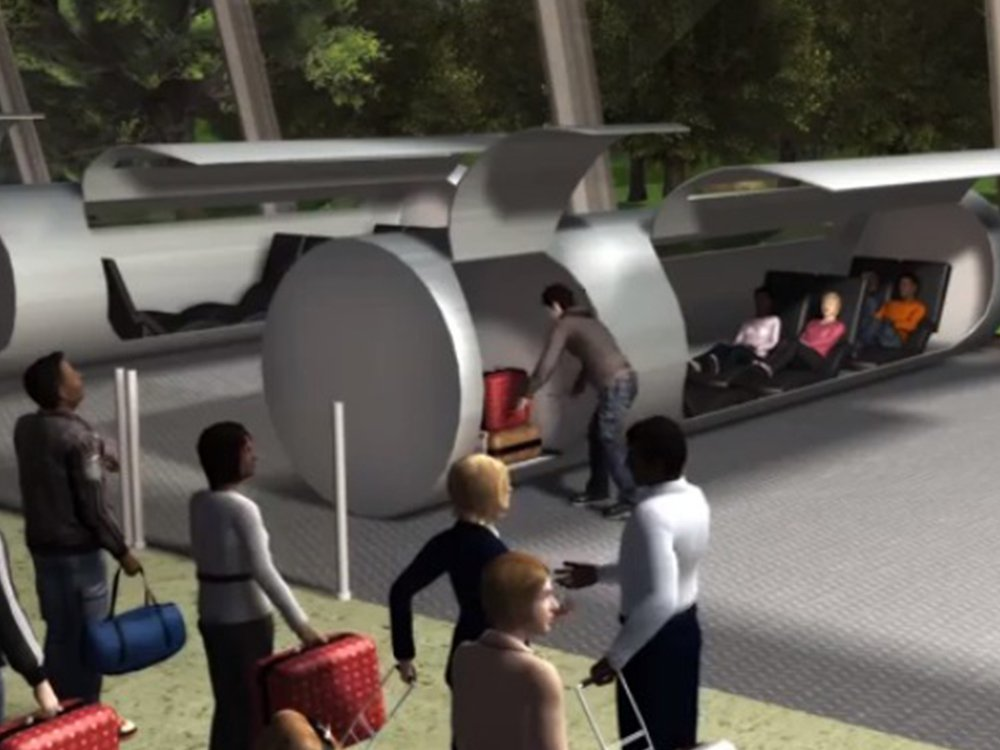 Traveling in pods through tubes. Is this what Elon Musk has in mind?