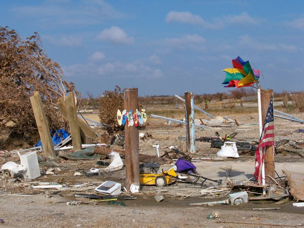 After the great destruction of Hurricane Ike, the American Spirit is still holding fast. thumbnail