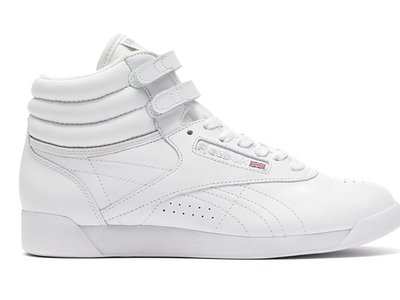 Reebok marketed their slim, pliable Freestyle shoes to aerobics lovers in the 1980s.