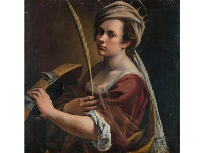 The National Gallery acquired Gentileschi's Self-Portrait as Saint Catherine of Alexandria in 2018.