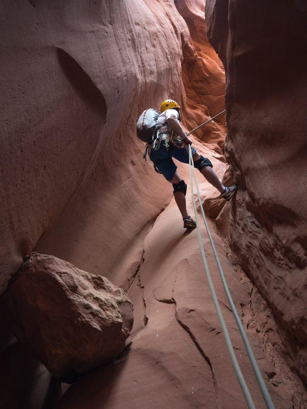Canyoneering in Blue John Canyon thumbnail