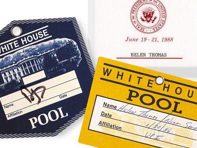 Helen Thomas' press passes