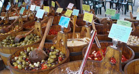 The olive bar at Salisbury Market