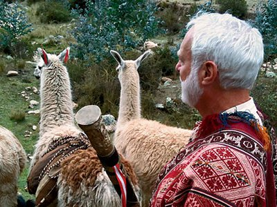 At the high Andes village of Chawaytiri, Secretary G. Wayne Clough took part in the Procession of the Llama.
