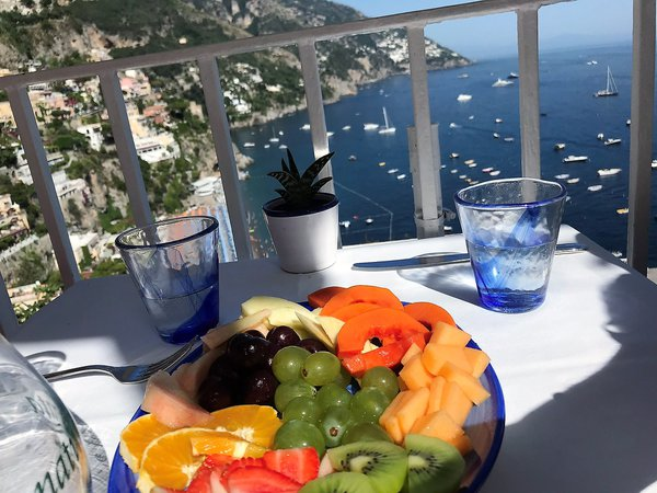 Fruit platter at a cafe in Positano  thumbnail