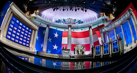 """""""Jeopardy's"""" Power Players Week is filmed at Constitution Hall in DC."""