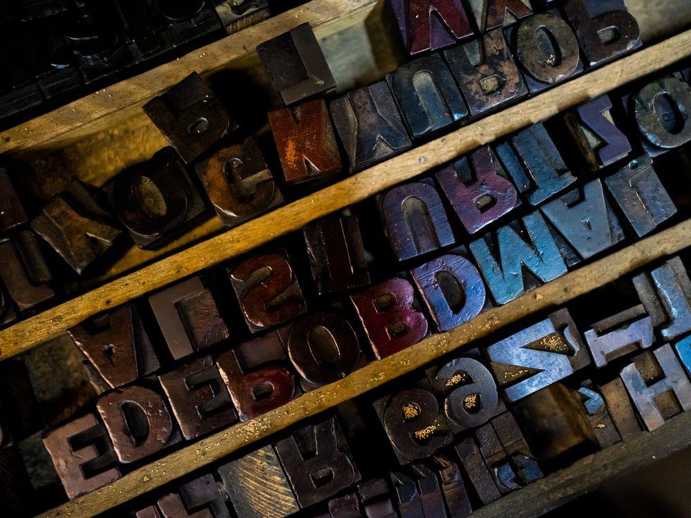 Wooden letterpress type